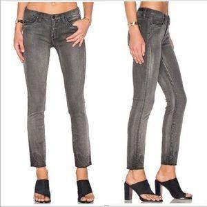 BlankNYC Rae Hem Gray Skinny Ankle Cropped Jeans